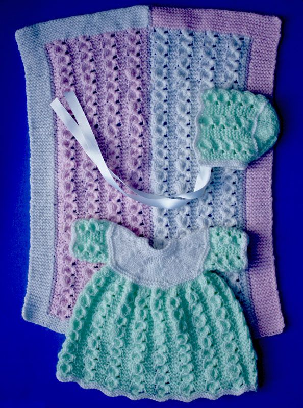 Knitted Doll Blanket Pattern : Knitting pattern for 15 - 18