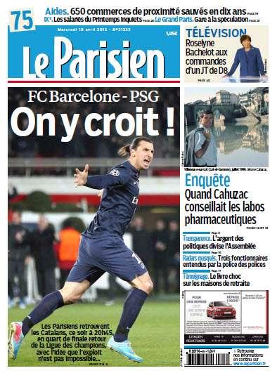 Le Parisien - Mercredi 10 Avril 2013