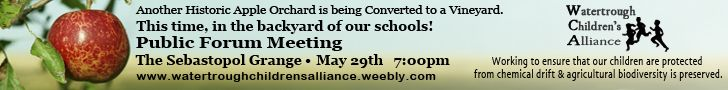 Vineyard Conversions - Public Forum on May 29th at Sebastopol Grange